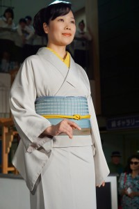 Iromudži, přehlídka v Nishijin Textile Center, Kjóto