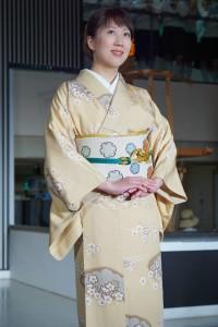 Komon, přehlídka v Nishijin Textile Center, Kjóto