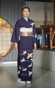 Hómongi, přehlídka v Nishijin Textile Center, Kjóto
